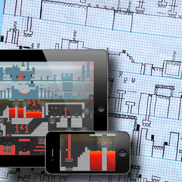 Pixel Press, платформер, iOS, пиксель-арт, gamedev, Pixel Press - нарисуй собственный 2d-платформер на бумаге