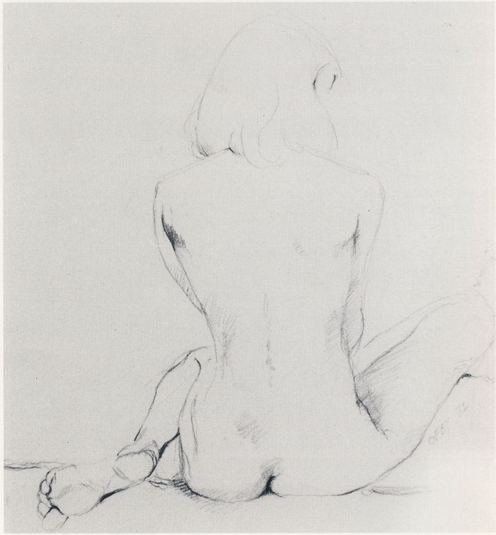 карандаш обнаженная девушка  Графика  Рисование