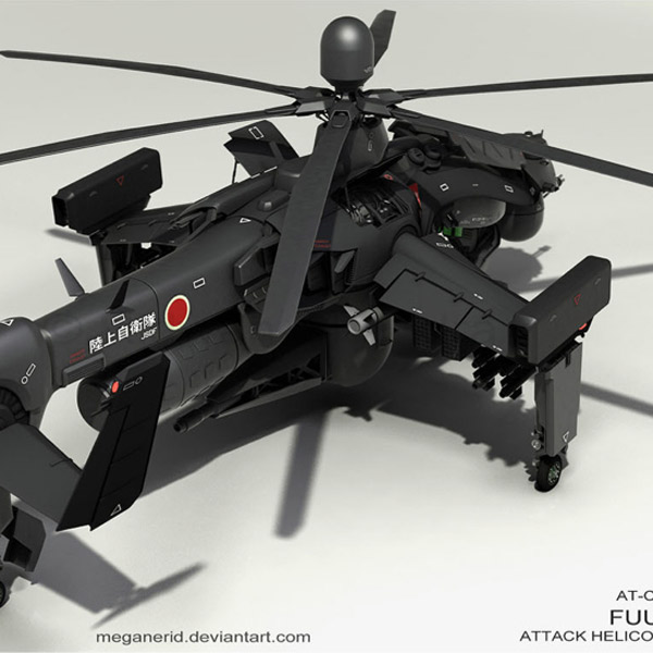 DeviantArt, 3D, вертолет, Китайцев напугал японский боевой вертолет... выложенный на DeviantArt