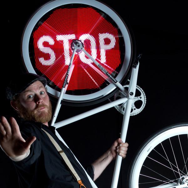 LED,Kickstarter,велосипед, Monkey Light Pro - система LED экранов на колесах велосипеда