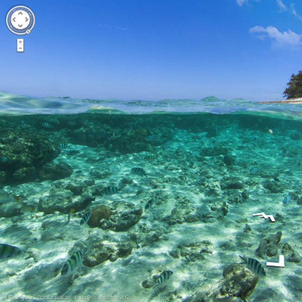 Google, картография, Street View, Google уходит под воду