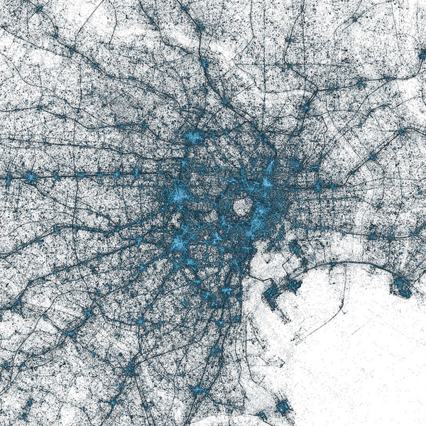 Twitter, визуализация, big data, Миллиарды геотегов твиттера визуализированы и нанесены на карту
