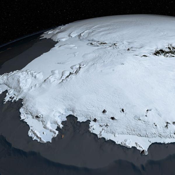 География, Антарктида, визуализация, Горы Антарктиды зафиксированы на сверхточной карте