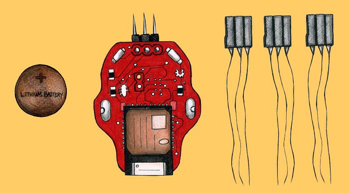комплект для создания таракана киборга