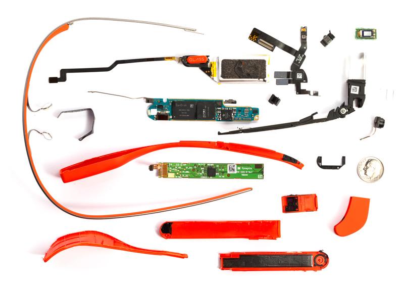 Google Glass разобранные на части