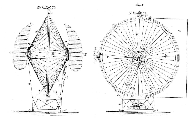 Летающая машина 19 века