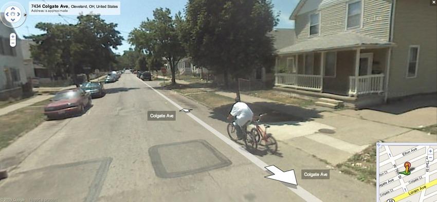 Велосипед Google карты