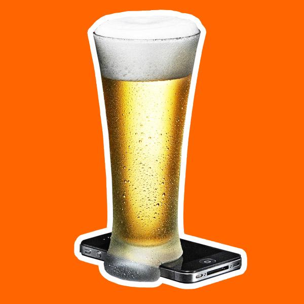 iPhone,дизайн, Пивные офлайн-стаканы против использования смартфонов в барах