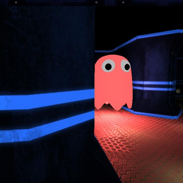 PacMan,3D,Unity, Атмосферный PacMan от первого лица на Unity