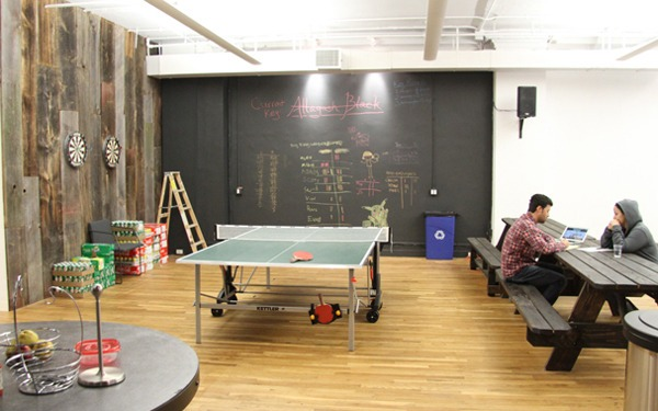 Foursquare офис интерьер