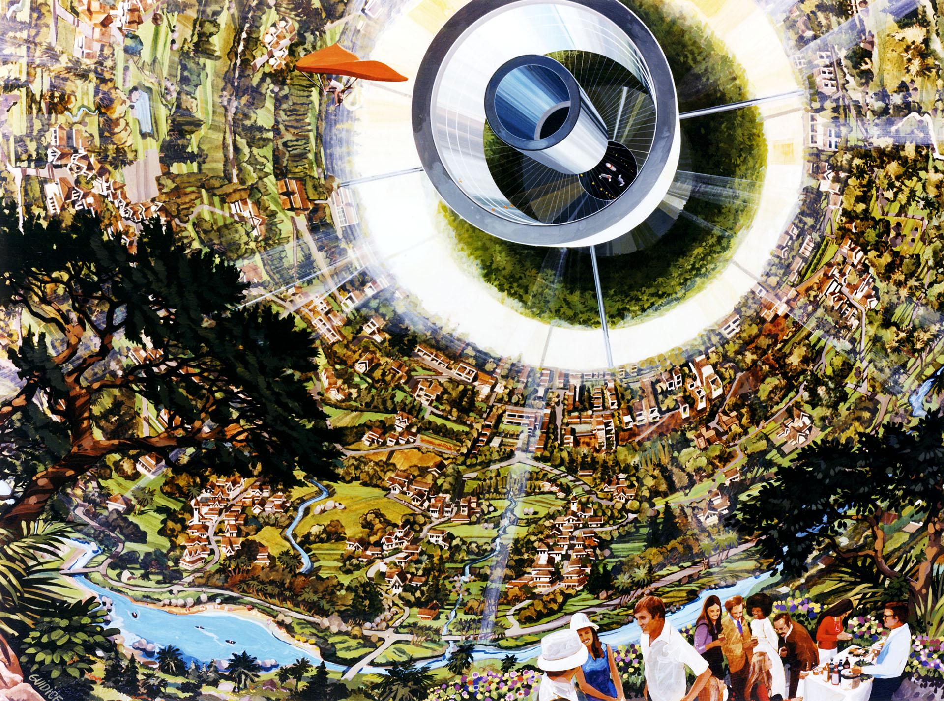 концепт космічна станція психоделіка