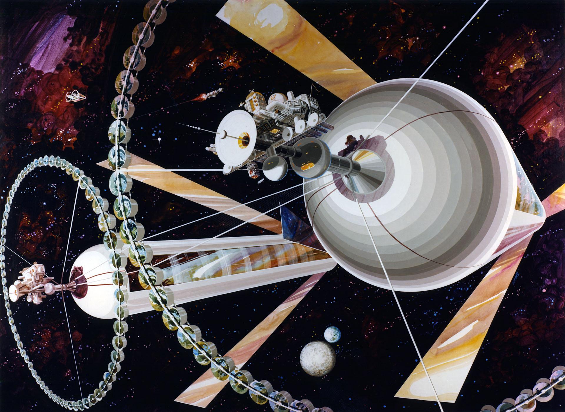 концепт космічна станція