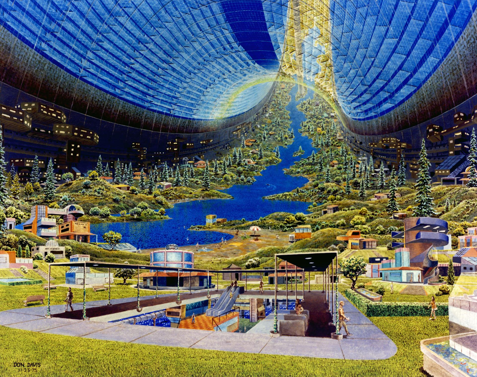 концепт космічна станція малюнок 70-их