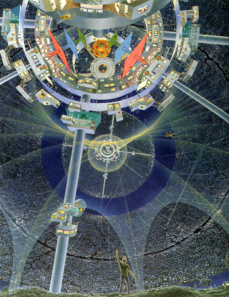 космічна станція малюнок 70-их