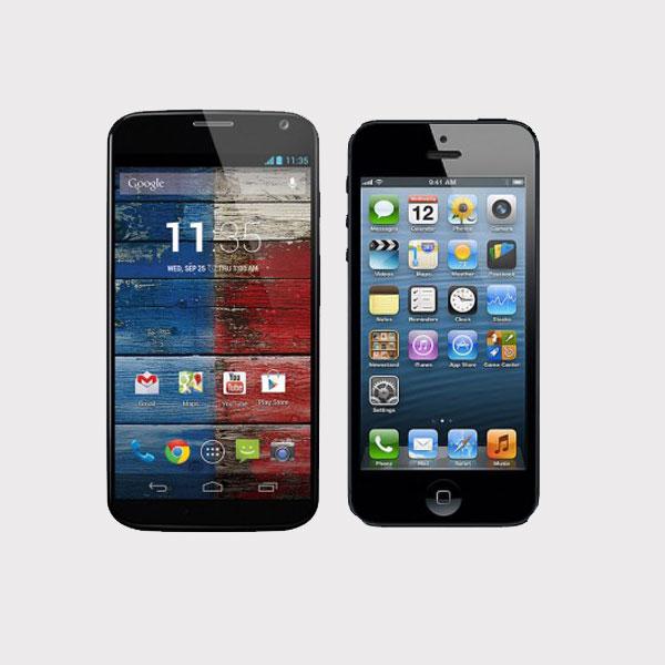 Moto X, iPhone 5, смартфоны, Motorola Moto X против iPhone 5