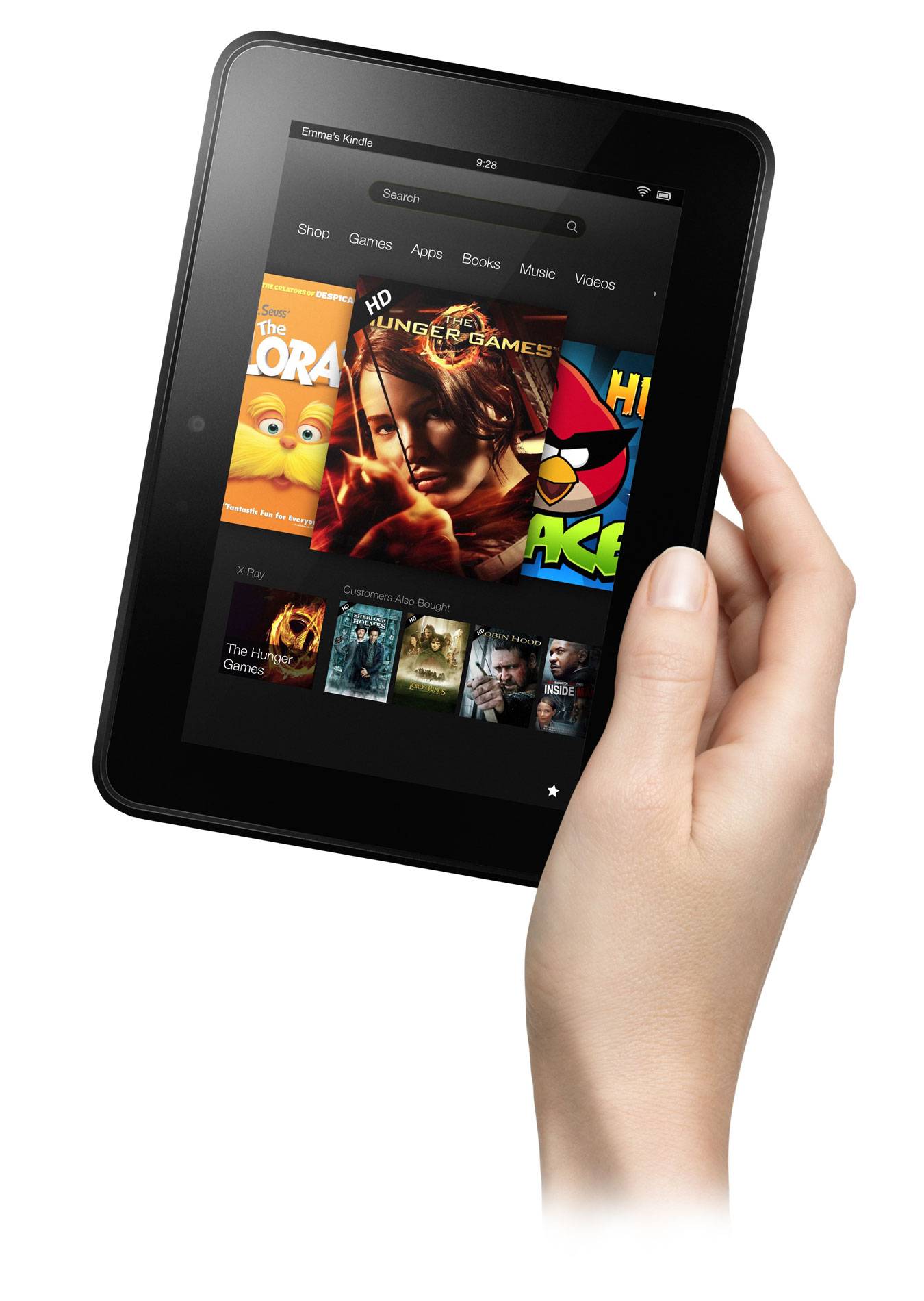 Amazon Kindle Fire HD 7 в руке