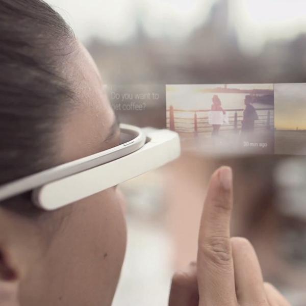 Google, Google Glass, патент, Google Glass позволит лайкать реальные объекты