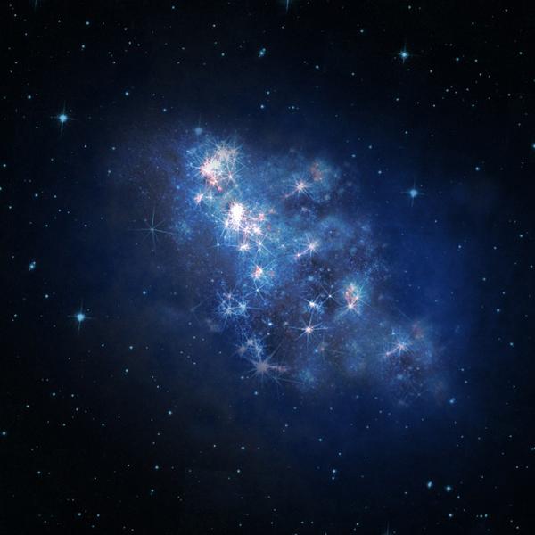 Вселенная, z8_GND_5296, Свет далекой галактики