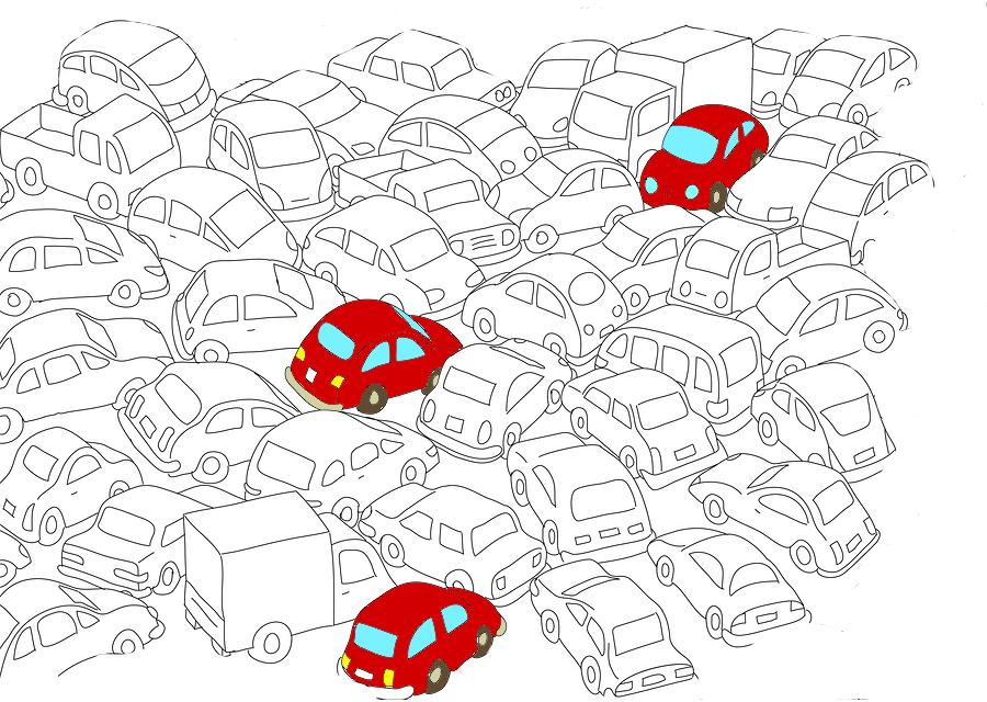 трафик пробка иллюстрация