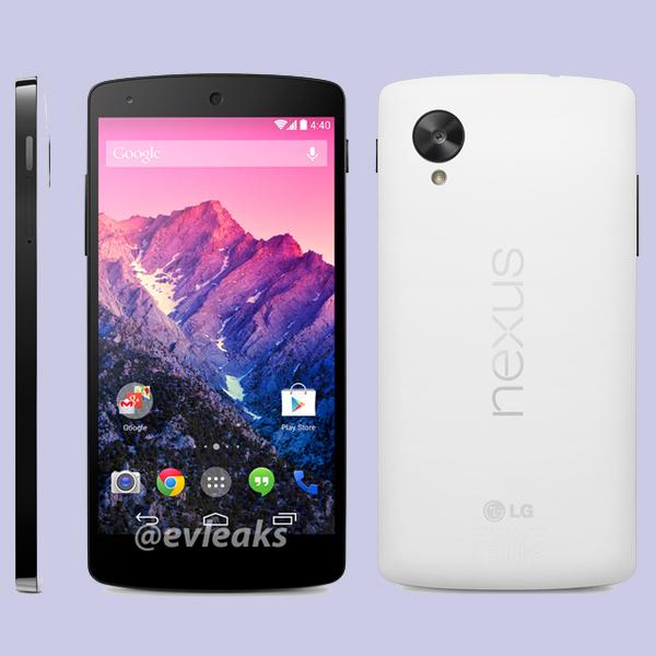 Google, Nexus 5, Фото белого Google Nexus 5 просочились в сеть