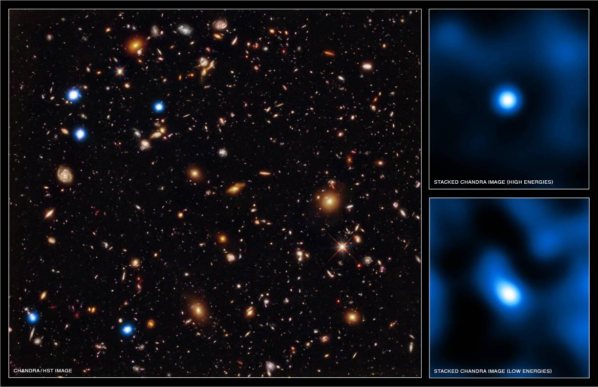 Chandra Hubble супермассивные черные дыры ранняя Вселенной