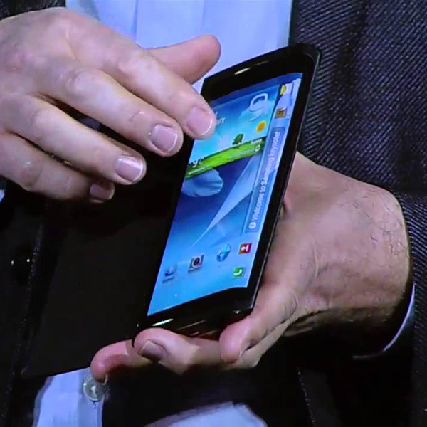 Samsung, гибкий дисплей, Новый смартфон от Samsung с гибким экраном появится в следующем году