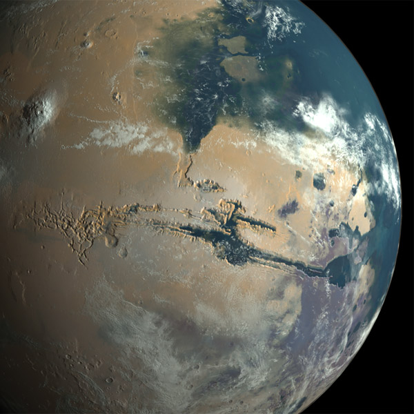 Марс, Парниковый эффект на древнем Марсе породил океаны