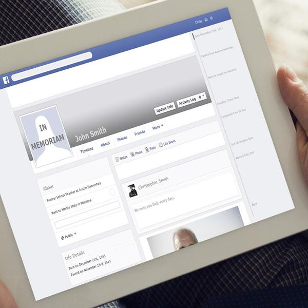 Facebook, Sanctri, Память об усопших будет жить в Facebook