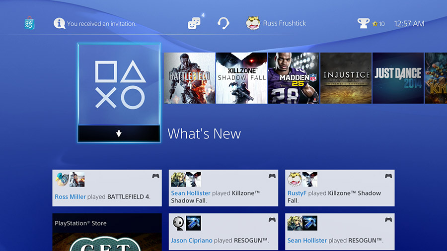 playstation 4 play store