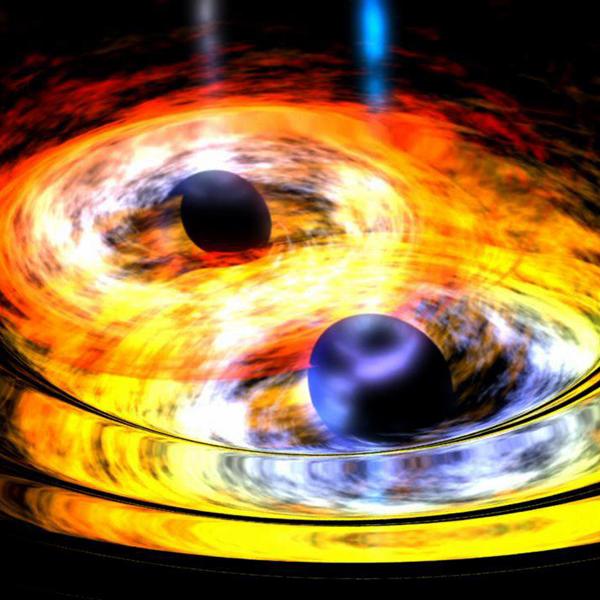 космос, черная дыра, Вселенная, Телескоп WISE обнаружил процесс создания сверхмассивной черной дыры