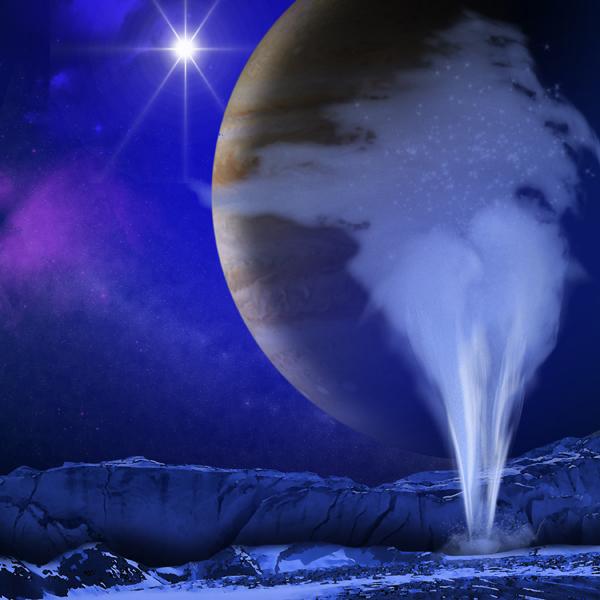 Европа,спутник,Юпитер, На Европе обнаружены паровые гейзеры