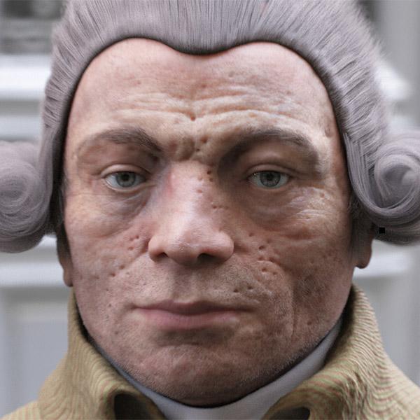 3D,3D-реконструкция, Французская 3D-студия восстановила облик Робеспьера по слепкам мадам Тюссо