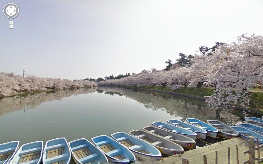 Човни у квітучій сакури