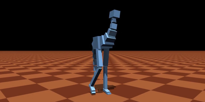 Гиперреалистичная компьютерная симуляция ходьбы и падений двуногих