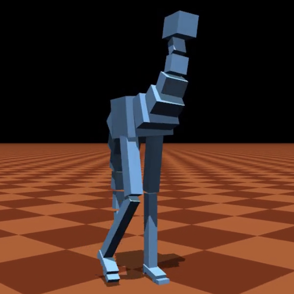 эмуляция,виртуализация, Гиперреалистичная компьютерная симуляция ходьбы и падений двуногих