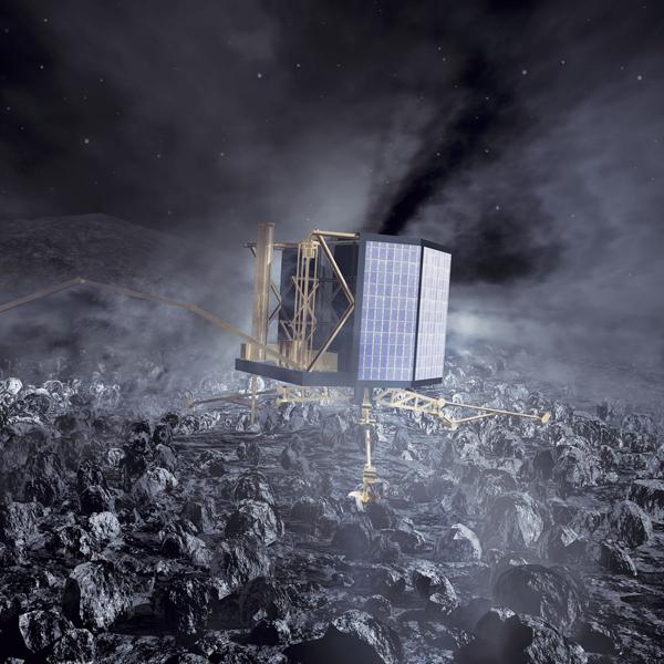Rosetta,комета,астероид, Космический аппарат Rosetta опустится на комету