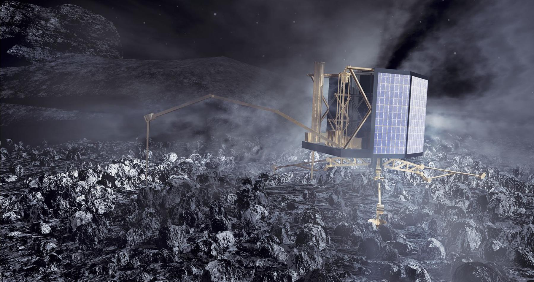 Космический аппарат Rosetta опустится на комету