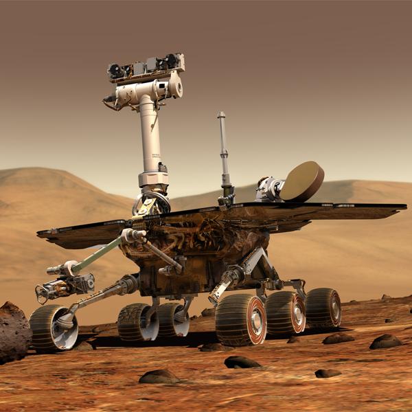 Opportunity, Марс, Ученые не знают, как объяснить появление камня на снимках с марсохода