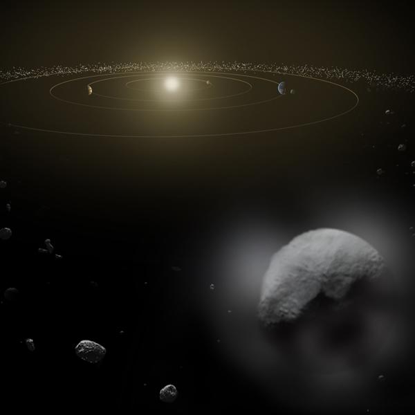 Церера, вода, Ученые обнаружили на Церере выбросы водяного пара