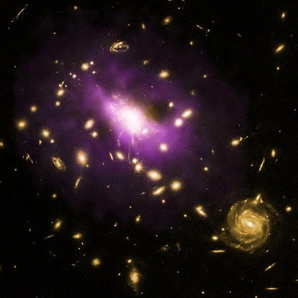 Вселенная, черная дыра, галактика, Огромная черная дыра не позволила сформироваться триллионам звезд
