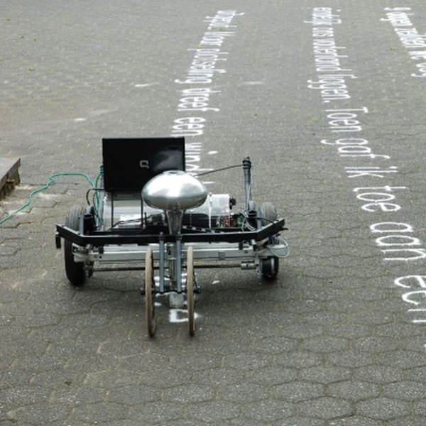граффити, искусство, Граффити-машина «творит» из песка
