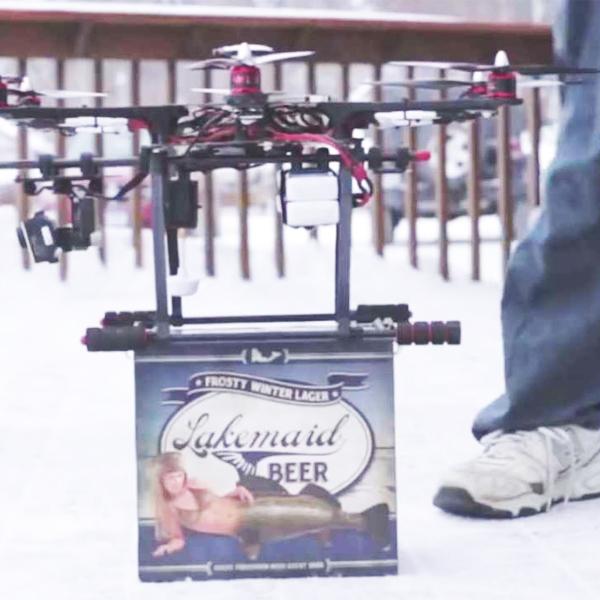 Дроны,беспилотник, Пивоваренная компания предложила доставку пива беспилотниками