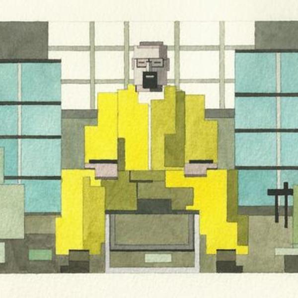 8bit,иллюстрация, Популярные персонажи в 8-битном формате