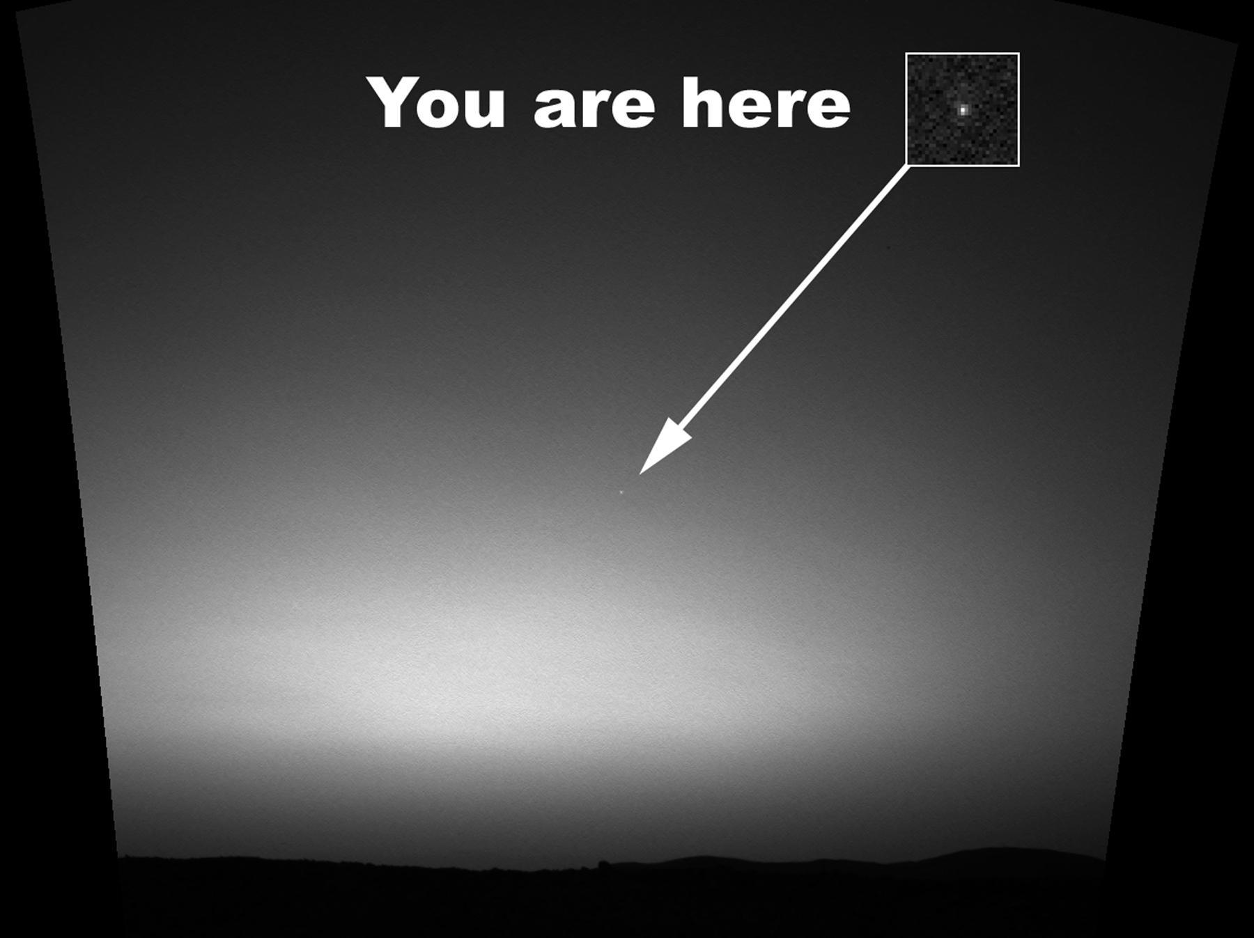 вездеход Spirit снимок Земли с Марса