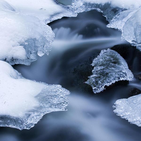 зима, лед, Удивительно холодное зимнее видео