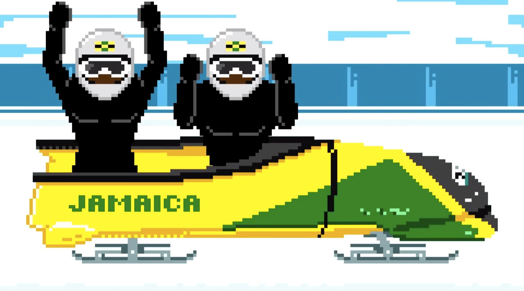 Совет по туризму Ямайки представил 8-битное видео о своей бобслейной команде