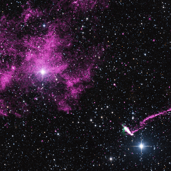 NASA, Chandra, пульсар, звезда, IGR J11014-6103: сверхзвуковой пульсар с «хвостом» длиной 37 световых лет