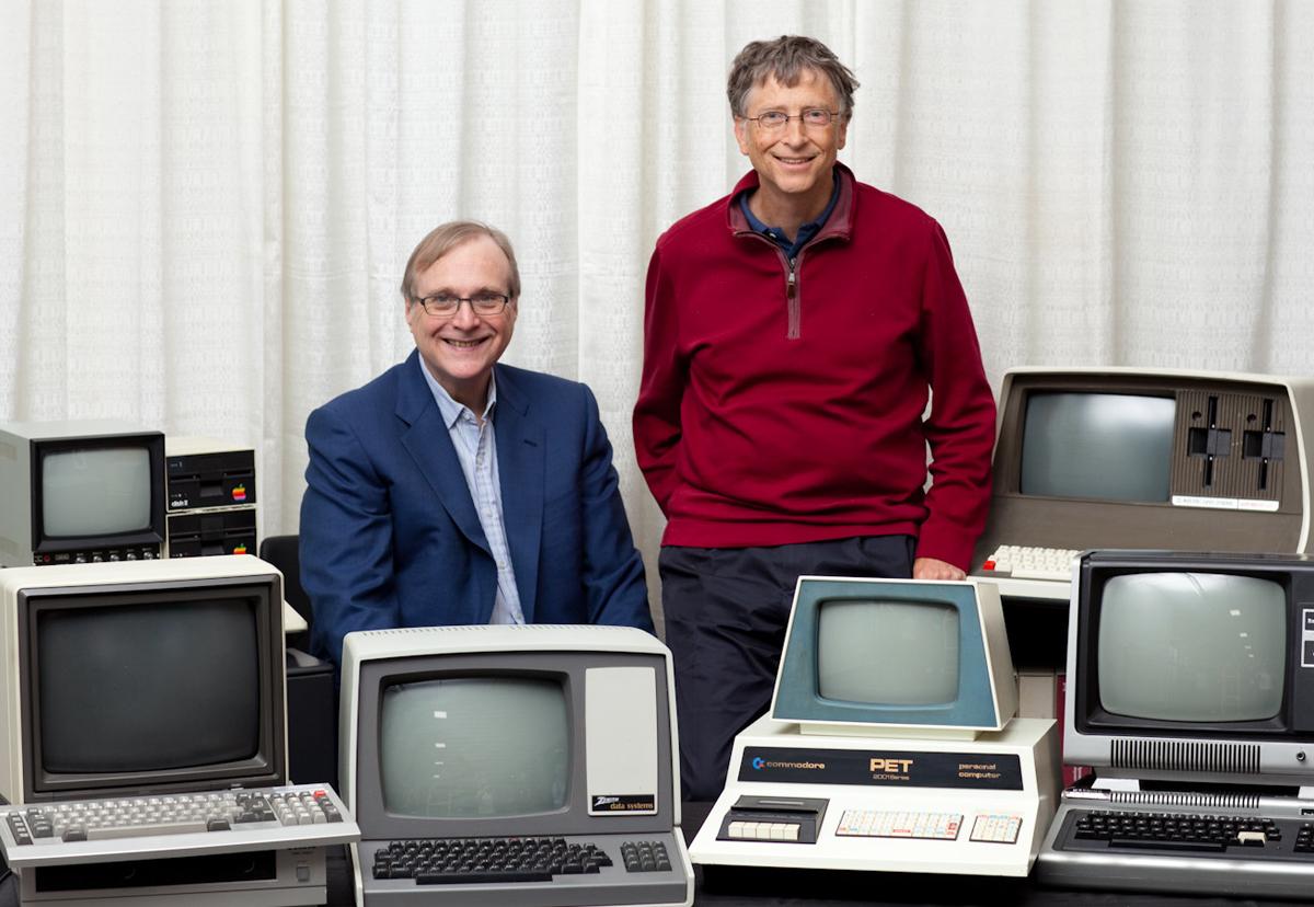 Основатели Microsoft Билл Гейтс и Пол Аллен