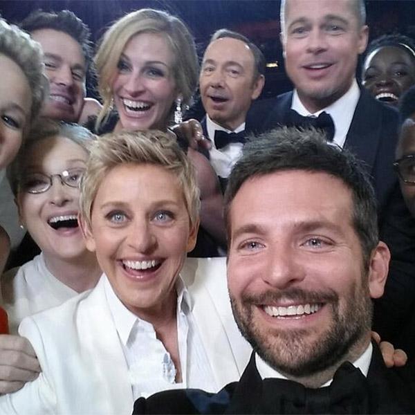 селфи,Twitter, Ведущая «Оскара» сломала Твиттер своим селфи