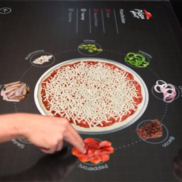 концепт,пицца, Концепт интерактивного стола по созданию пиццы